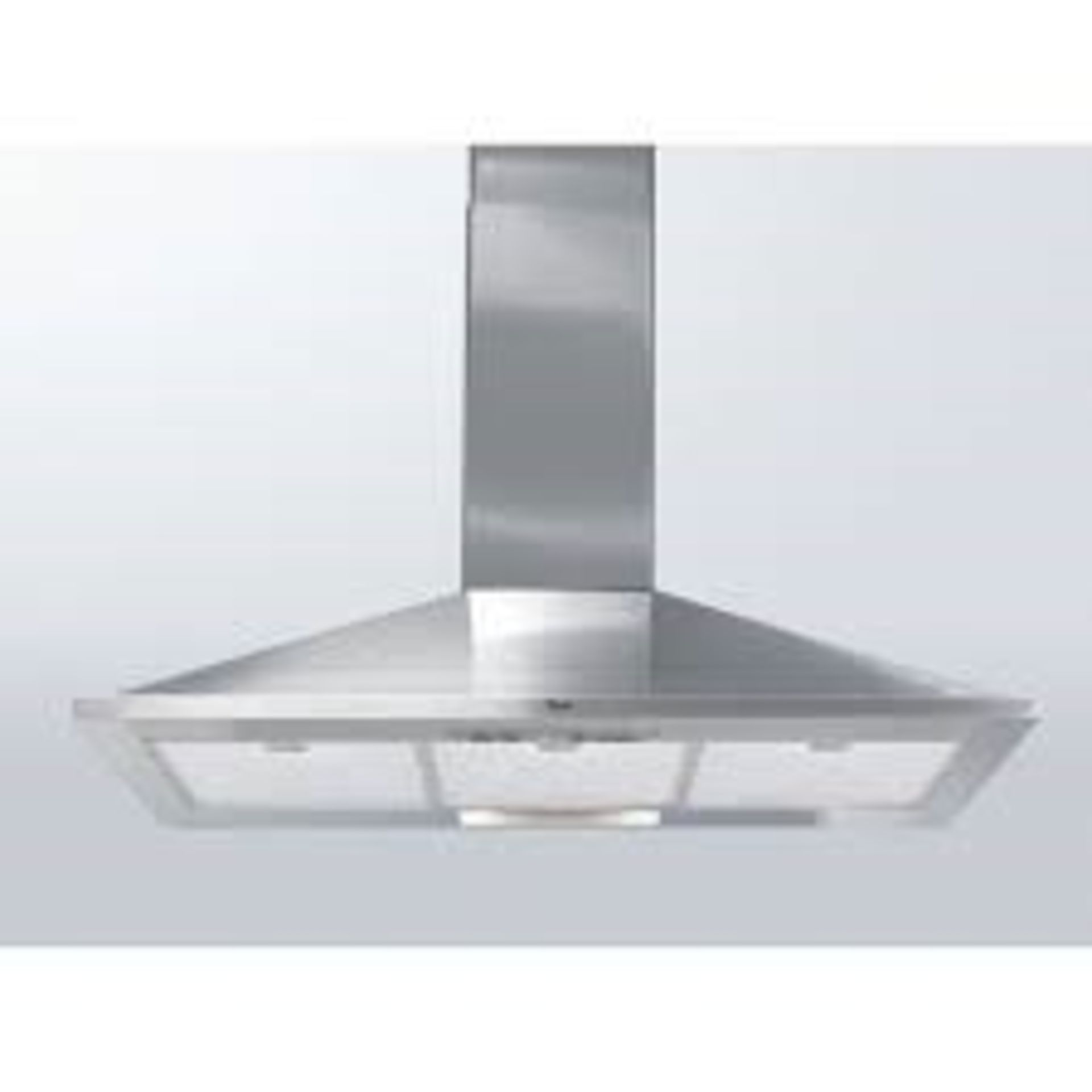 Lot 4 - 1 GRADE B BOXED AND UNTESTED WHIRLPOOL AKR590UK CHIMNEY COOKER HOOD IN SILVER / RRP £450.00 (VIEWING