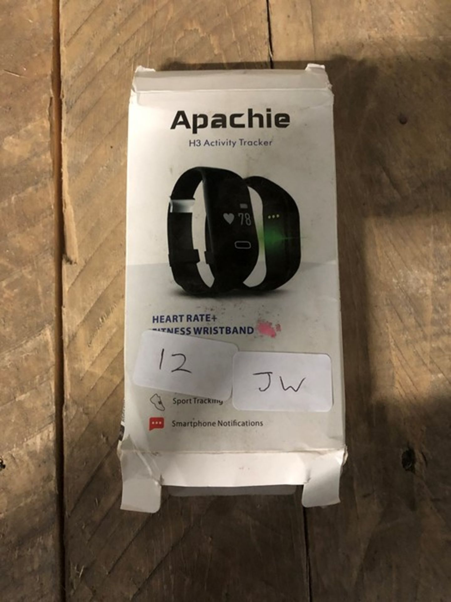 Lot 12 - 1 BOXED APACHE H3 ACTIVITY TRACKER HEART RATE + FITNESS WRISTBAND (VIEWING HIGHLY RECOMMENDED)