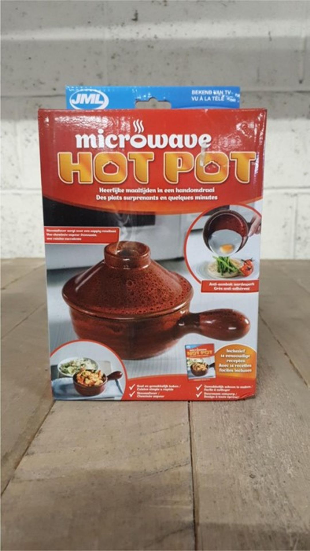 Lot 44 - 1 BOXED JML MICROWAVE HOTPOT CERAMIC POT (VIEWING HIGHLY RECOMMENDED)