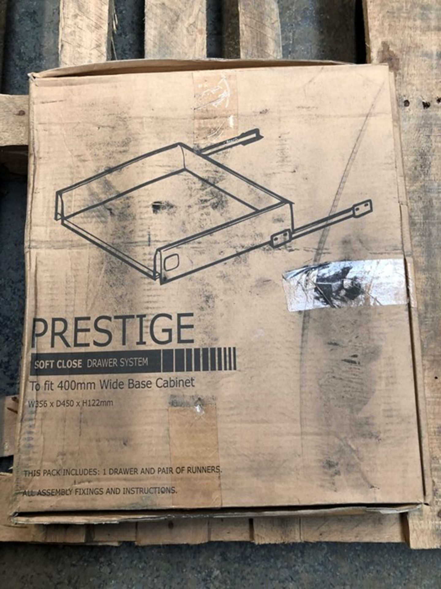Lot 25 - 1 BOXED PRESTIGE SOFT CLOSE DRAWER SYSTEM / TO FIT 400MM WIDE BASE CABINET (VIEWING HIGHLY