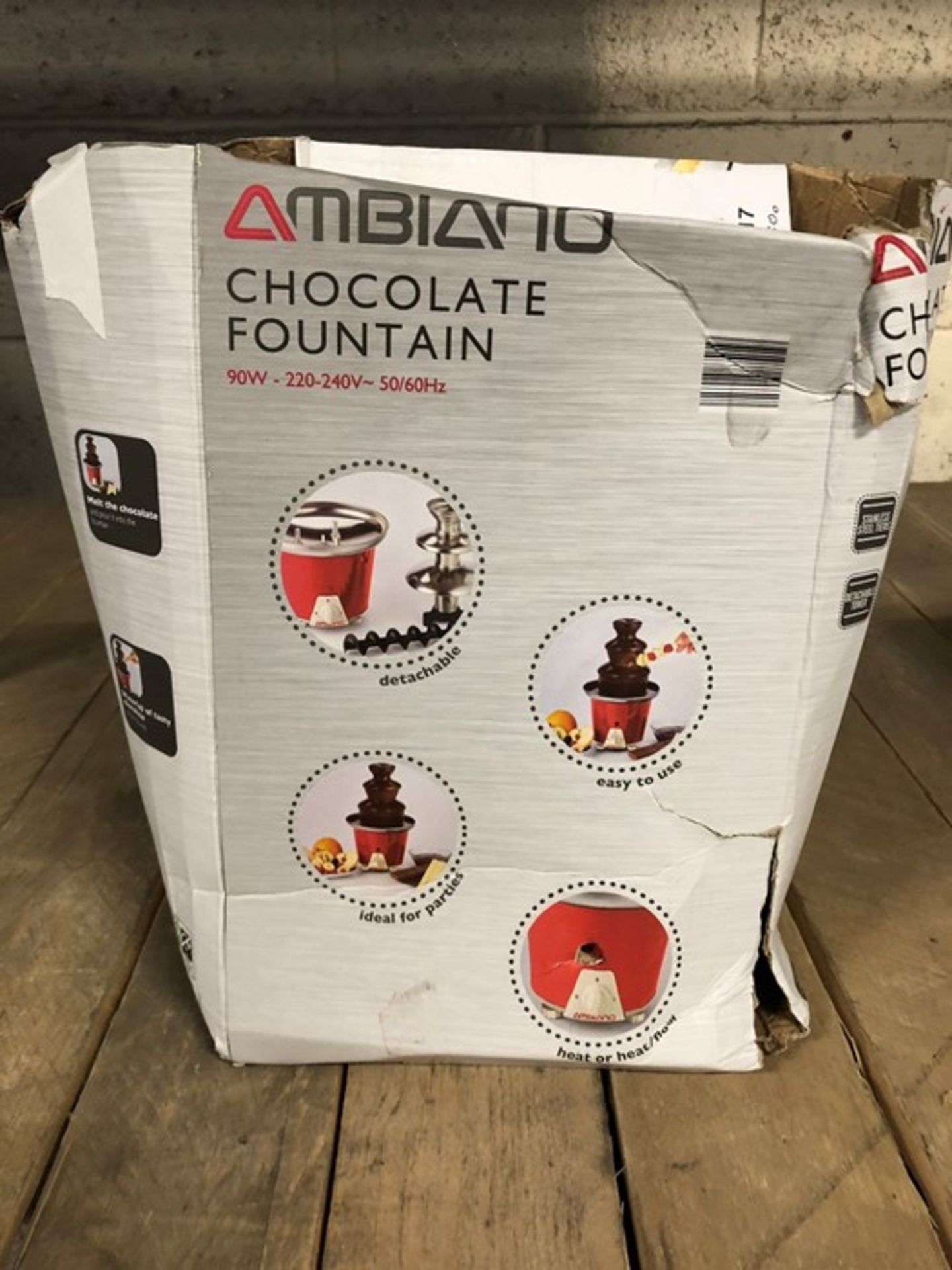 Lot 14 - 1 BOXED AMBIANO CHOCOLATE FOUNTAIN (VIEWING HIGHLY RECOMMENDED)