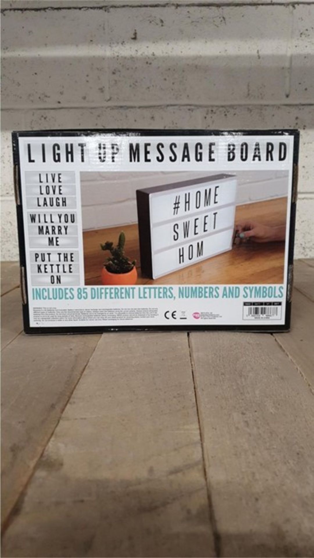 Lot 33 - 1 BOXED LIGHT UP MESSAGE BOARD (VIEWING HIGHLY RECOMMENDED)