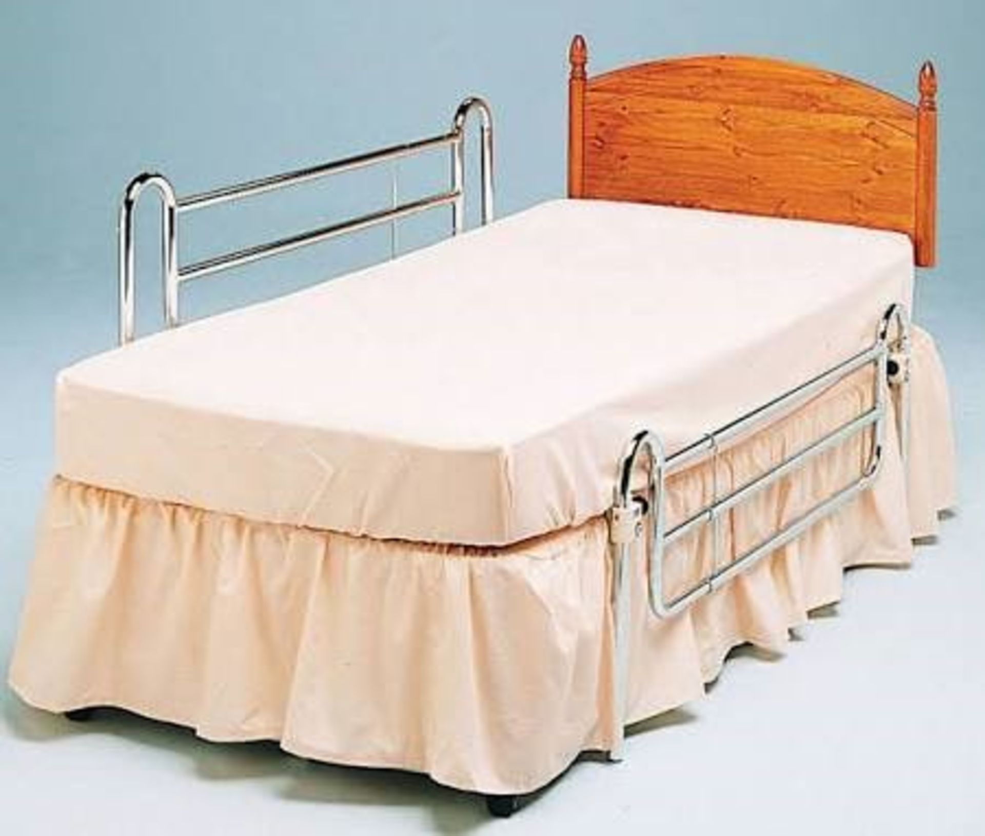 Lot 797 - ME : 1 AS NEW BOXED STANDARD BED RAILS FOR DIVAN BED / RRP £141.71 (VIEWING HIGHLY RECOMMENDED)