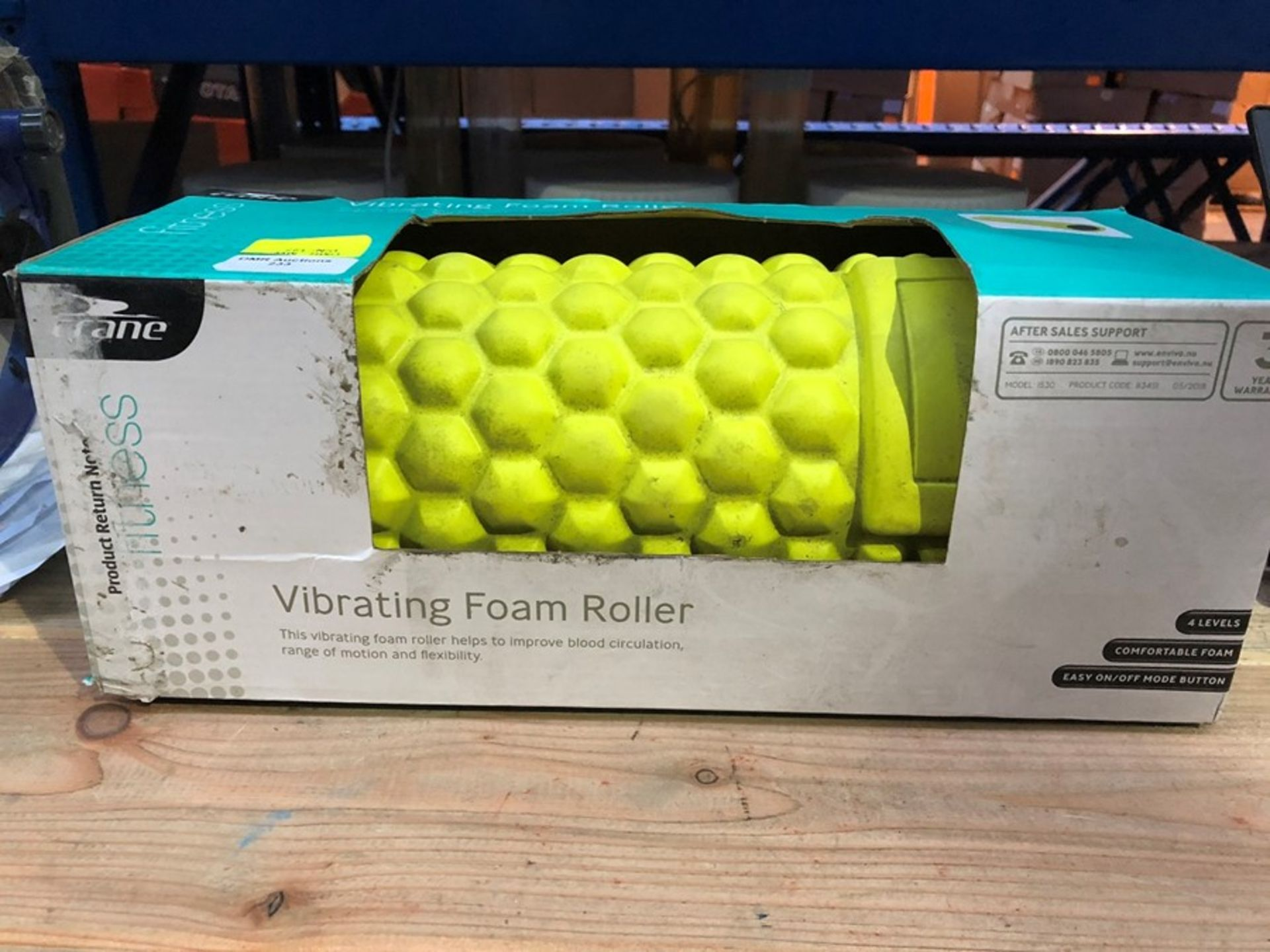 Lot 233 - 1 BOXED CRANE VIBRATING FOAM ROLLER / RRP £24.99 (PUBLIC VIEWING AVAILABLE)
