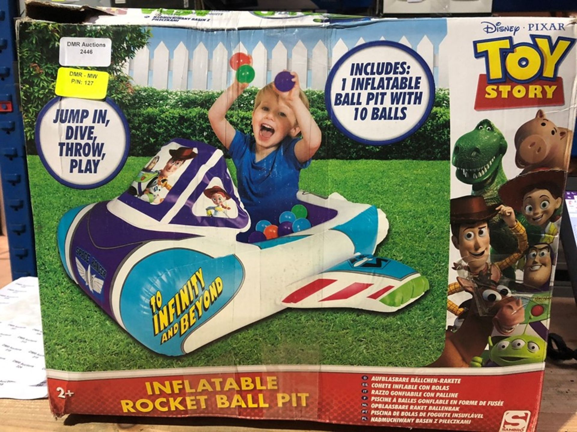 Lot 27 - 1 LOT TO CONTAIN 2 BOXED TOY STORY INFLATABLE ROCKET BALL PIT / RRP £51.96 (PUBLIC VIEWING