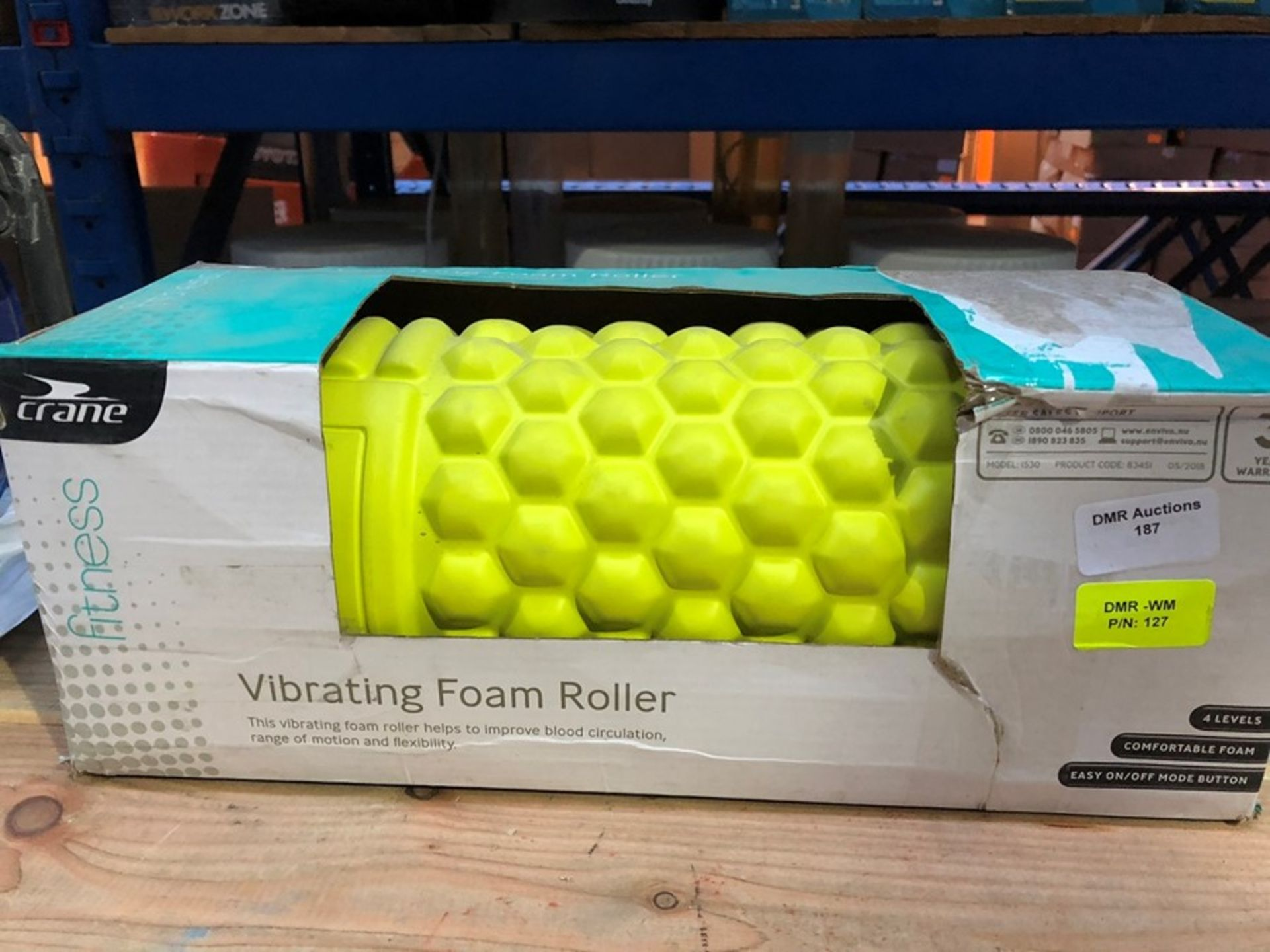 Lot 187 - 1 BOXED CRANE VIBRATING FOAM ROLLER / RRP £24.99 (PUBLIC VIEWING AVAILABLE)