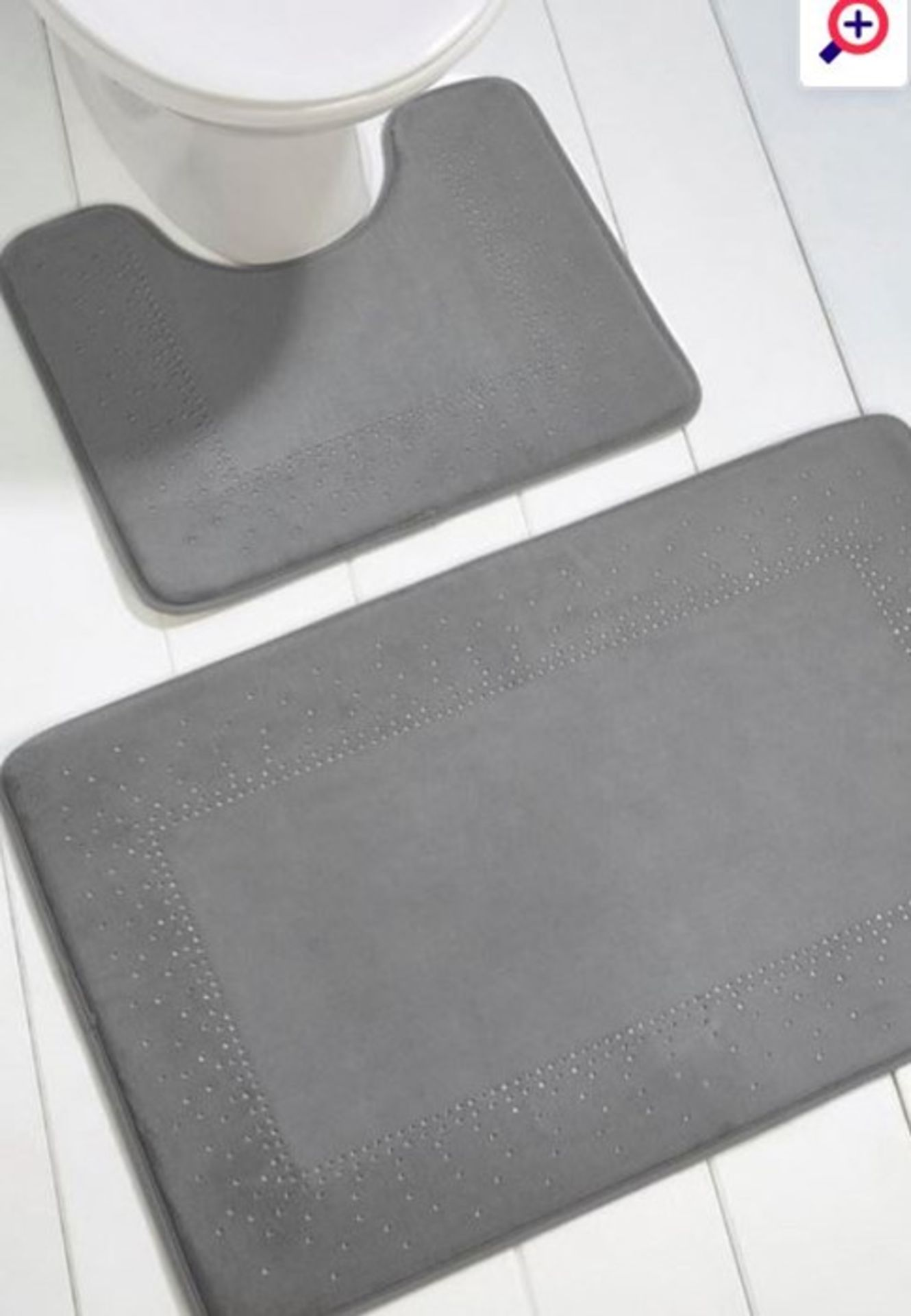 Lot 48 - 1 AS NEW BAGGED SPARKLE 2 PIECE MEMORY FOAM BATH SET IN GREY / RRP £12.99 (PUBLIC VIEWING