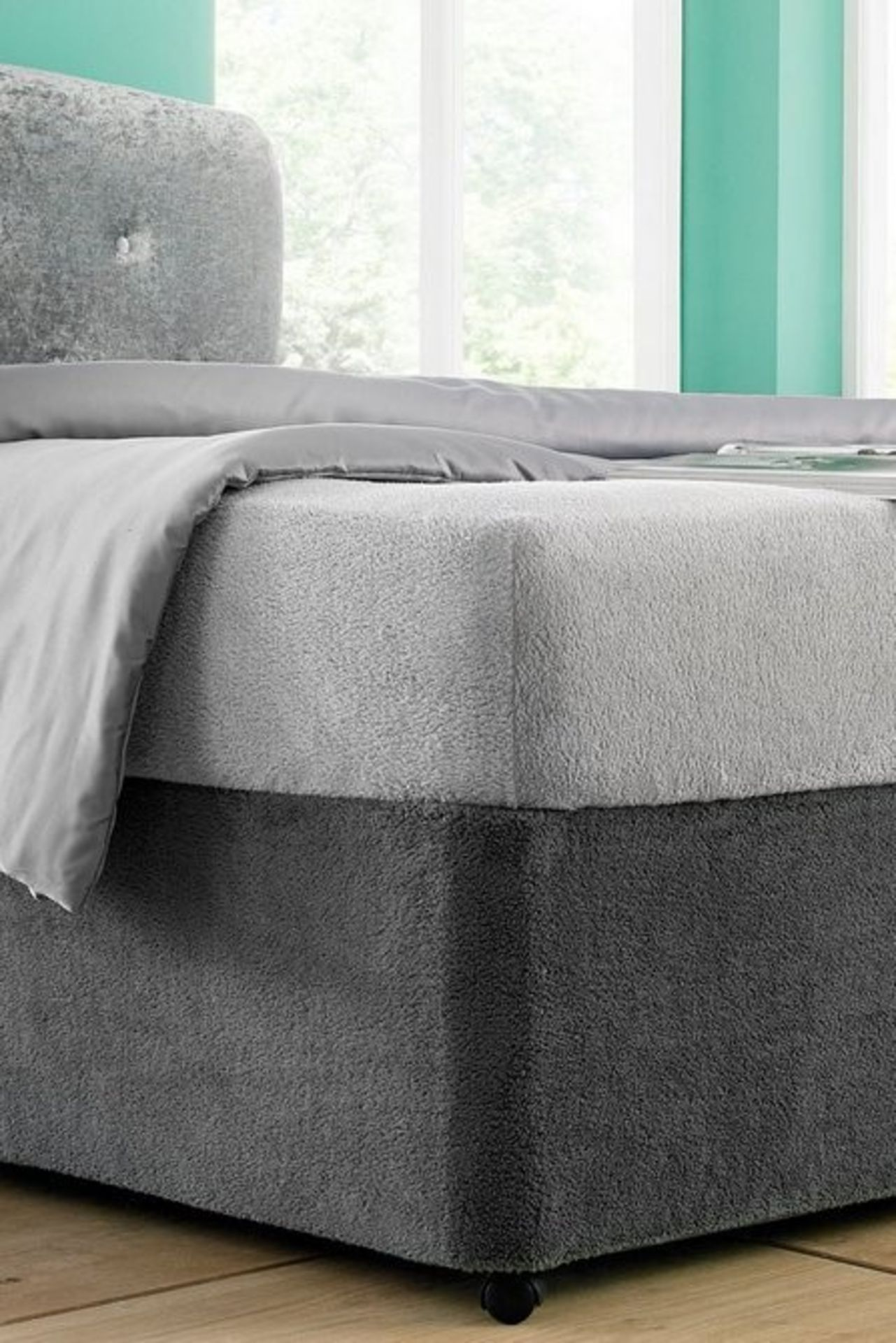 Lot 38 - 1 BAGGED KING SIZE ULTRA COSY BASE WRAP IN CHARCOAL GREY (PUBLIC VIEWING AVAILABLE)