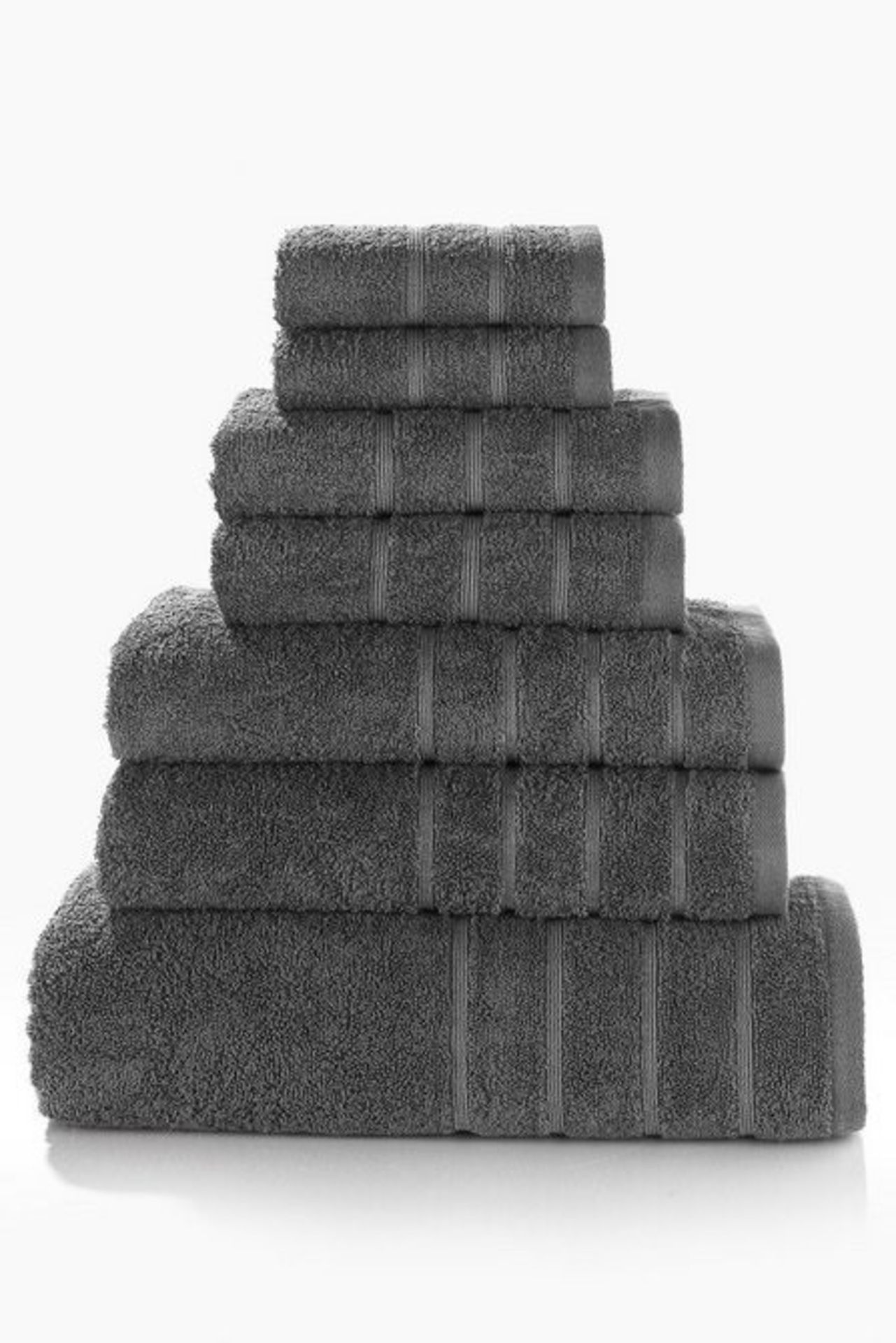 Lot 122 - 1 BAGGED 7 PIECE TOWEL BALE IN CHARCOAL (PUBLIC VIEWING AVAILABLE)