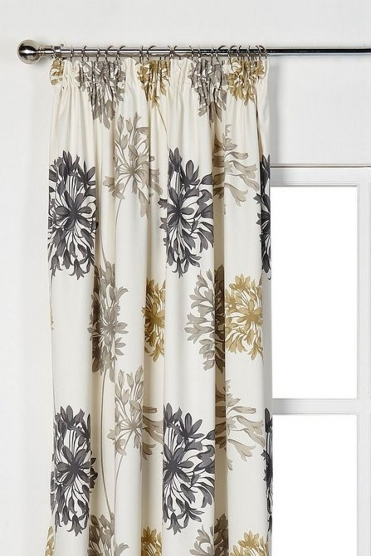 """Lot 4 - 1 AS NEW BAGGED PAIR OF LAURABETH PENCIL PLEAT LINED CURTAINS / 66 X 72"""" / RRP £37.99 (PUBLIC"""