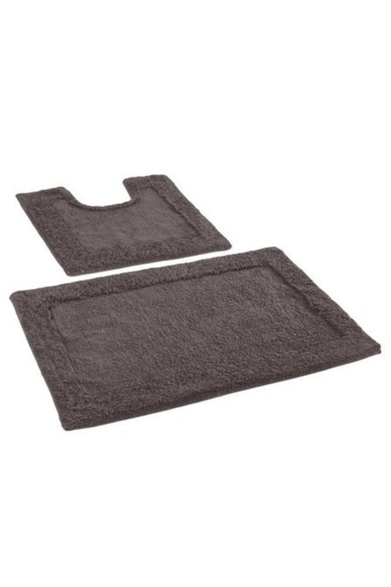 Lot 144 - 1 AS NEW BAGGED KINGSLEY HOME BATH MAT SET IN SLATE (PUBLIC VIEWING AVAILABLE)