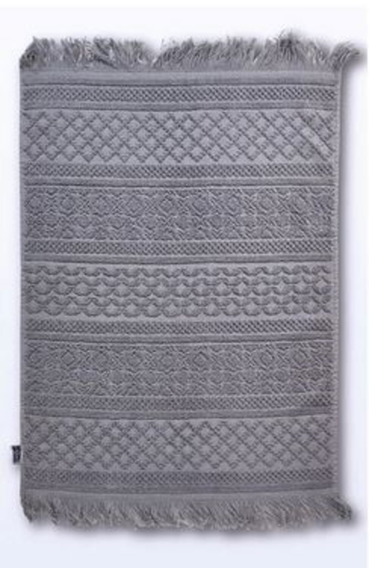 Lot 177 - 1 BAGGED DOBBY JACQUARD TOWEL MAT IN GREY (PUBLIC VIEWING AVAILABLE)