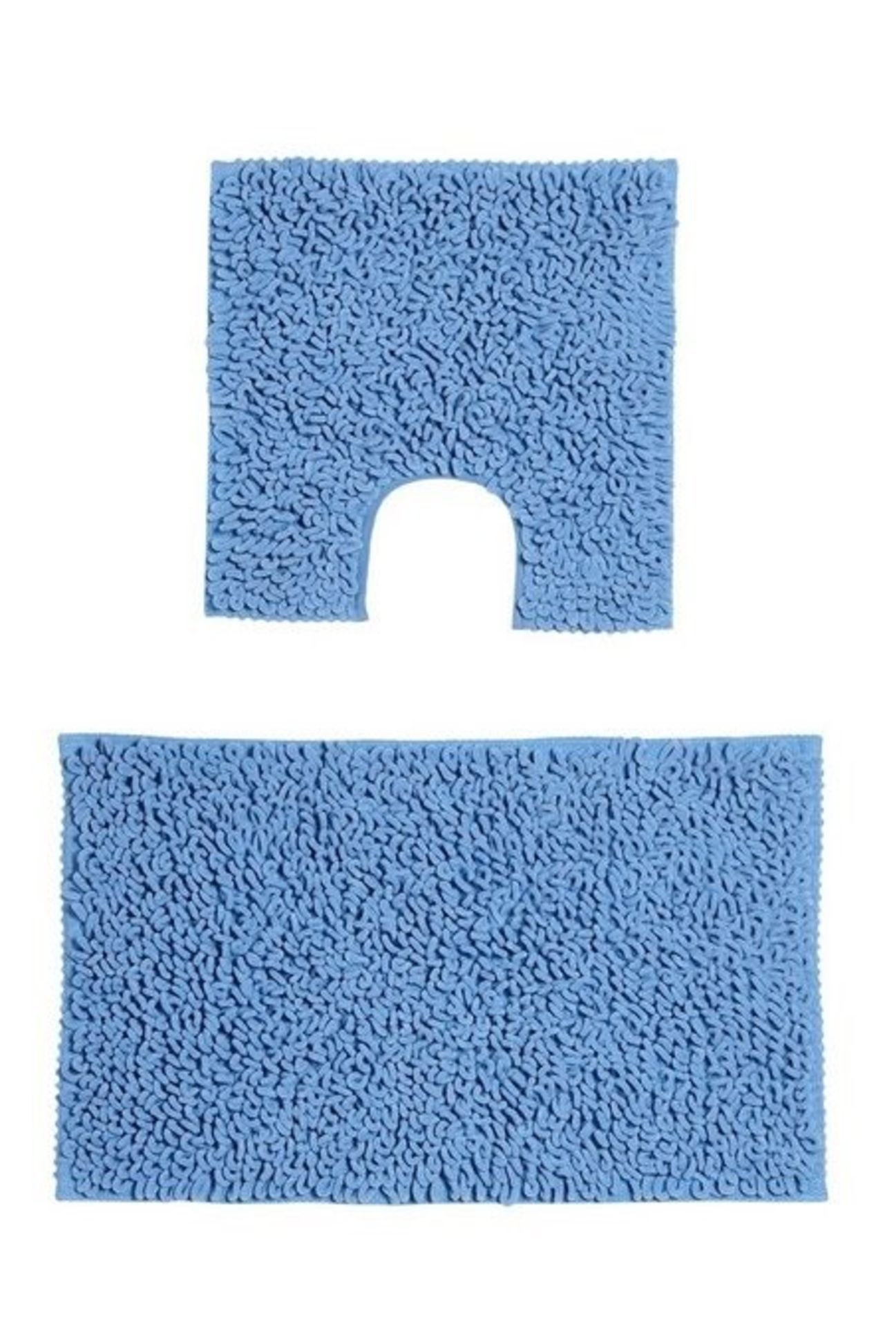 Lot 152 - 1 BAGGED CHENILLE LOOP BATH MAT IN JADE (PUBLIC VIEWING AVAILABLE)