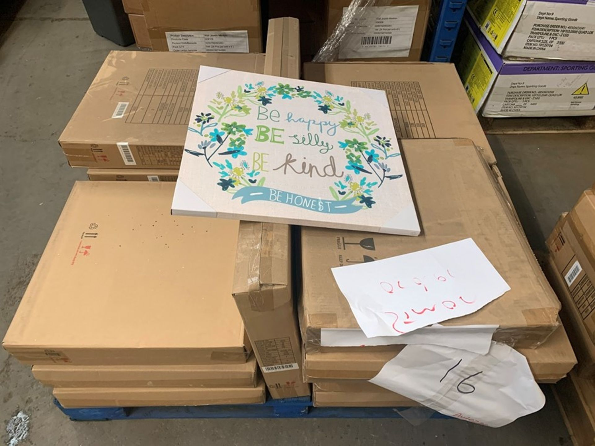 "Lot 25 - 1 LOT TO CONTAIN APPROX 18 AS NEW BOXES OF ""WORDS"" CANVASES WITH INSPIRATIONAL TEXT / APPROX 4"