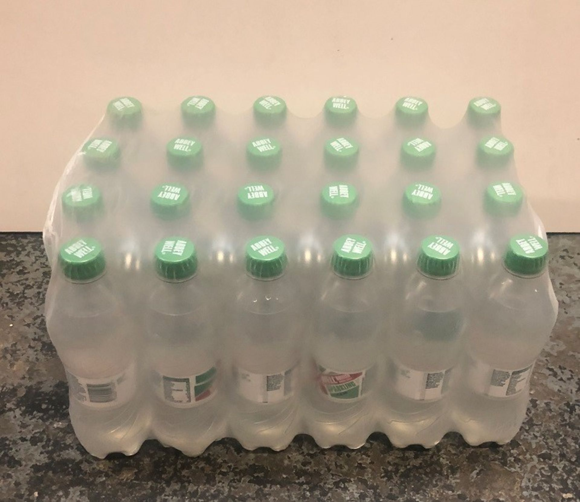 Lot 32 - 1 LOT TO CONTAIN 12 LARGE PACKS OF ABBEY WELL SPARKLING WATER / 24 BOTTLES PER PACK / BEST BEFORE: