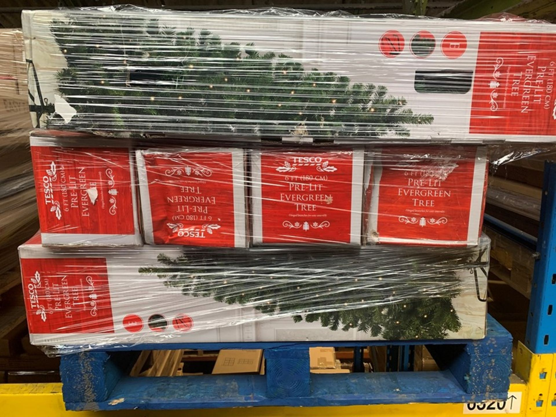 Lot 10 - 1 LOT TO CONTAIN 15 TESCO CHRISTMAS TREES IN 4FT AND 6FT SIZING (PUBLIC VIEWING AVAILABLE)