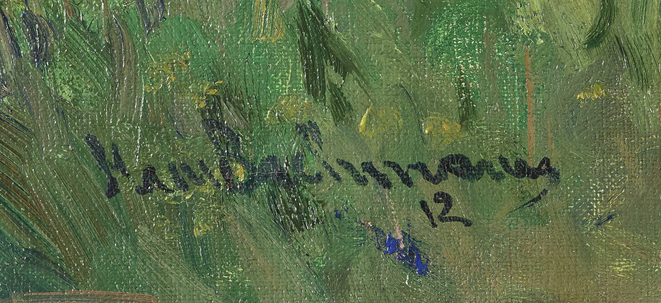 Lot 27 - BACHMANN, HANSWinikon 1852 - 1917 LuzernZ'Nüni.Öl auf Leinwand,sig. u. dat. (19)12 u.l.,