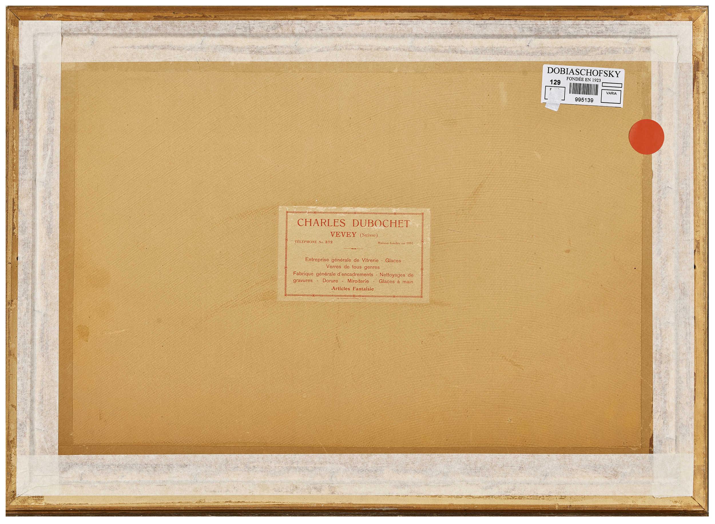 Lot 55 - BIÉLER, ERNESTRolle 1863 - 1948 LausanneLe chevrier.Aquarell und Tusche auf Papier, sig. u.r.,