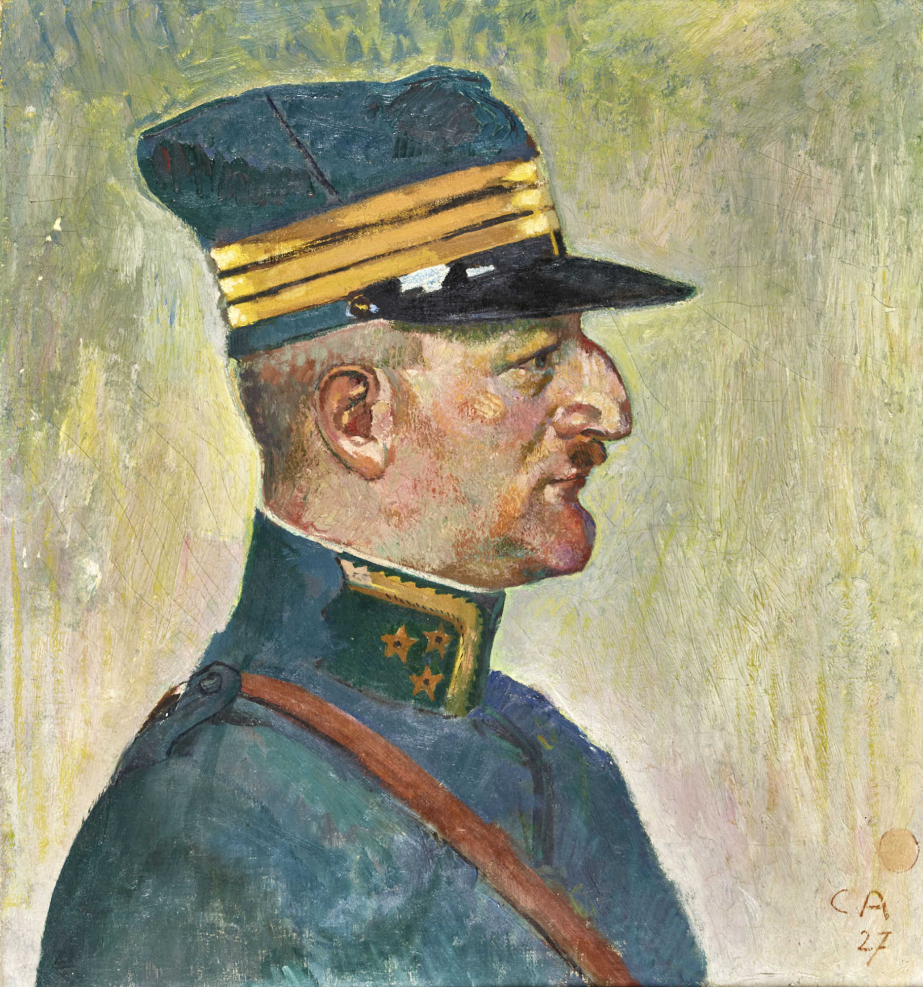 Lot 60 - AMIET, CUNOSolothurn 1868 - 1961 OschwandBildnis eines Offiziers.Öl auf Leinwand,mgr. u. dat. (19)27