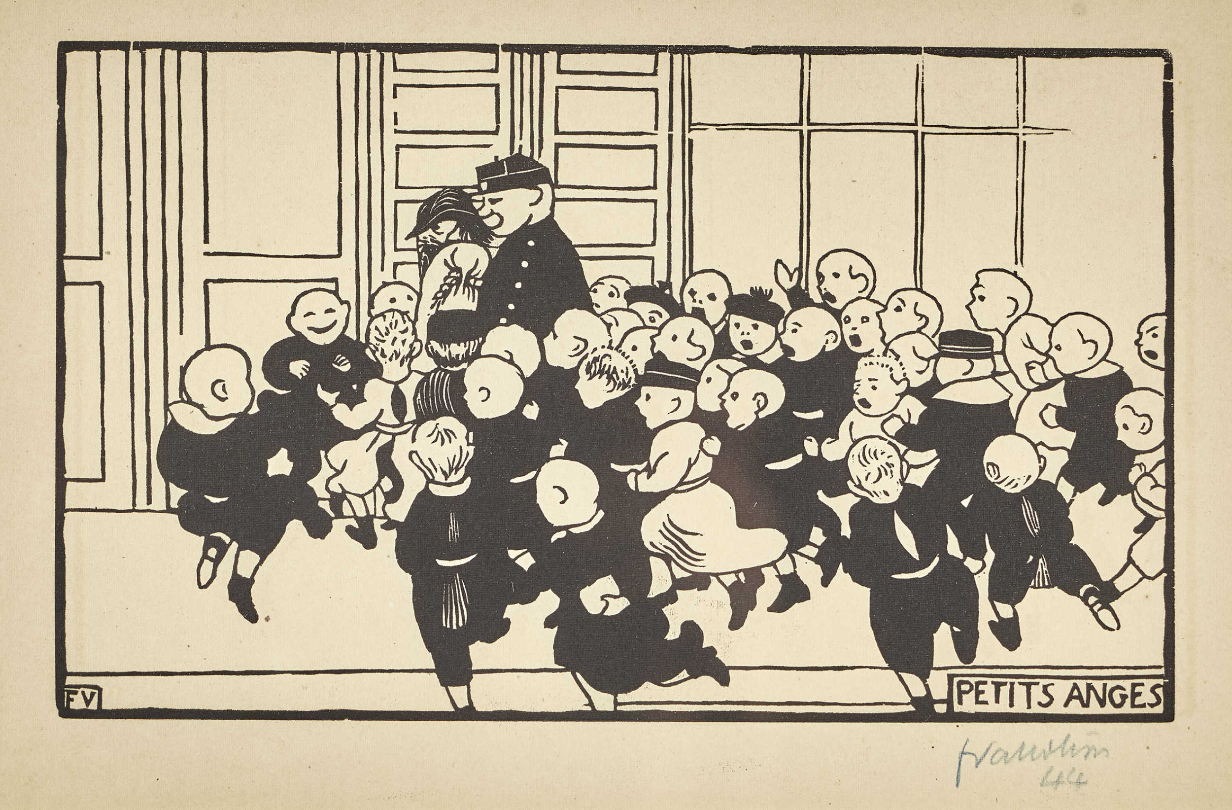 Lot 43 - VALLOTTON, FÉLIXLausanne 1865 - 1925 Neuilly-sur-SeinePetits anges.Holzschnitt,im Stock mgr. u.l.,