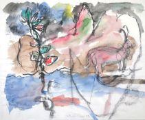 Anzinger, SiegfriedAquarell und schwarze Kreide auf Papier, 37,8 x 45,8 cmOhne Titel (1985)