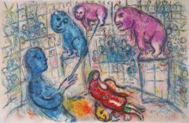 Chagall, MarcFarblithographie auf doppelbogigem Arches Bütten mit MittelfalzLe Cirque (1967)