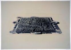 Damian, HoriaFarblithographie auf Arches Bütten, 52,5 x 75 cmLa Ville (1984)Signiert, betitelt und