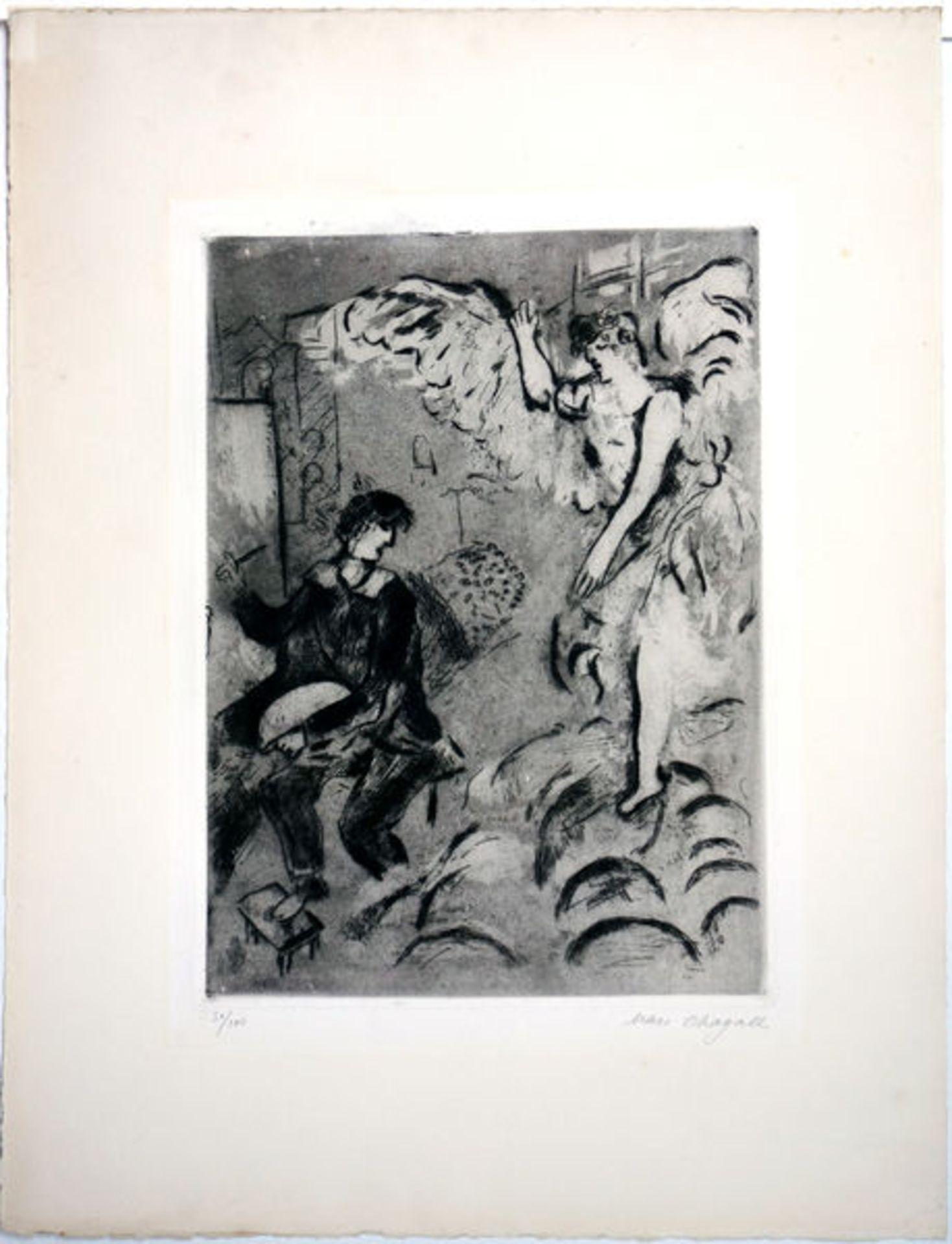 Chagall, MarcRadierung und Aquatinta auf Arches Bütten, 37,4 x 27,5 cmL'Apparition I (1924)