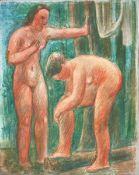 Amrein, RobertTempera auf Leinwand auf Keilrahmen aufgezogen, 25 x 20 cmZwei weibliche Akte (1938)