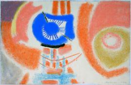 Ackermann, MaxPastell auf Papier, 31 x 48,2 cmOhne Titel (1974)Signiert und datiert. Blattrand unten