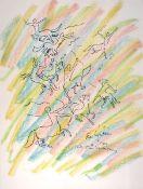 Cocteau, JeanFarblithographie auf Bütten, 59 x 46 cmEtude pour le mur de droite (1956)Im Stein