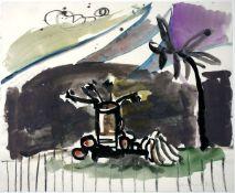 Anzinger, SiegfriedAquarell auf Papier, 38 x 46 cmOhne Titel (1983)Signiert und datiert. Im