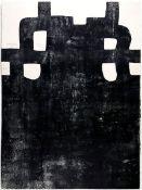 Chillida, EduardoLithographie auf Vélin de Arches, 76 x 56,3 cmRotes Kreuz (1984)Van der Koelen