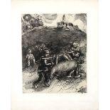Chagall, MarcRadierung auf Rives Velin, 30 x 24,4 cmLe meunier, son fils et l`aneCramer 22.