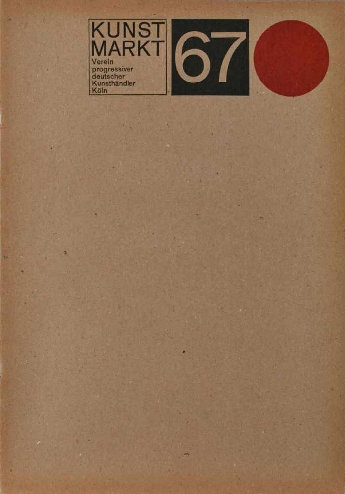 Lot 17 - MappenwerkKunstmarkt Köln 67. 1967. Mappe mit je einer signierten Druckgrafik von 19 Künstlern: