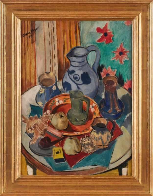 Lot 56 - Gemälde Friedrich Wilhelm Meyer1900 Sybba - 1968 Frankfurt 1925 am Städel und ab 1928 in der