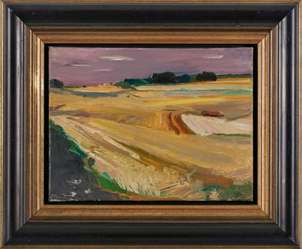 """Lot 59 - Gemälde Bruno Müller-Linow1909 Pasewalk - 1997 Hochscheid """"Sommerfelder"""" 1991 u. li. sign. u. dat."""