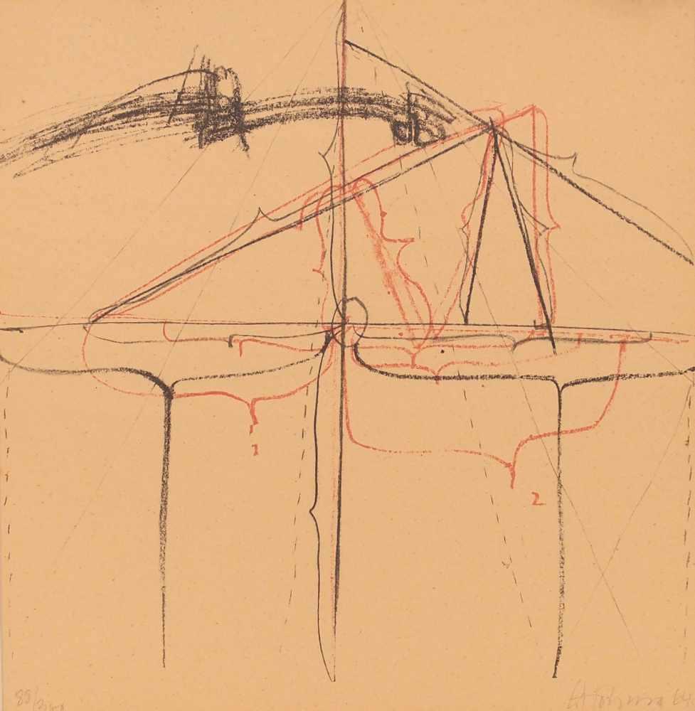 Lot 92 - Gerhard HoehmeGreppin 1920 - 1989 NeussOhne Titel. Farb. Lithographie. 1964. 30,7 x 30,7 cm.