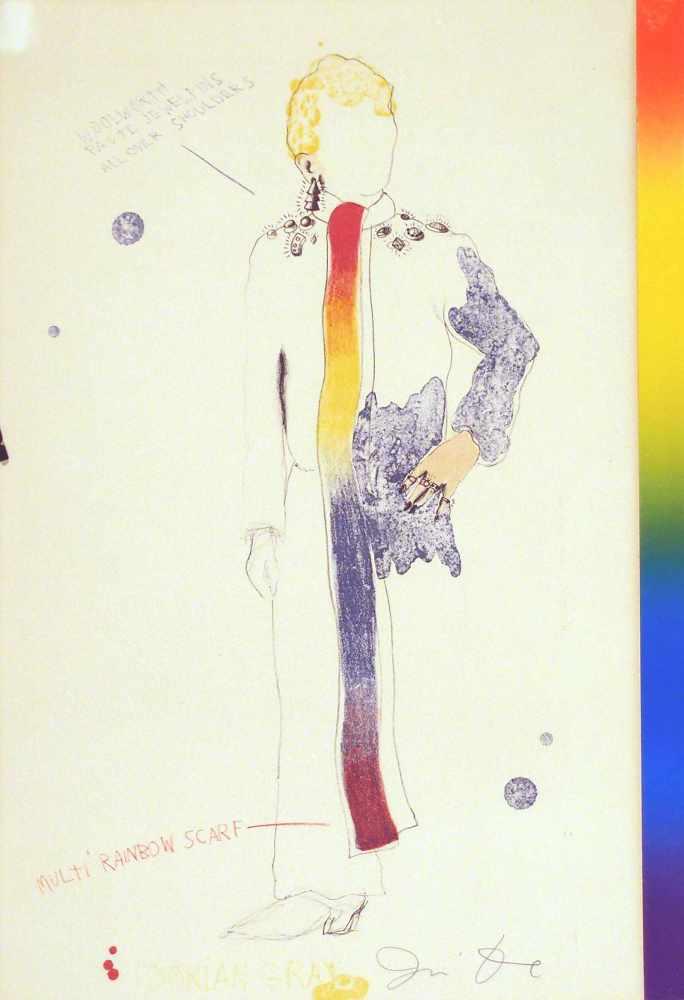 Lot 53 - Jim DineCinicinnati 1935 - lebt in ParisDorian Gray with Rainbow Scarf. Farb. Lithographie mit