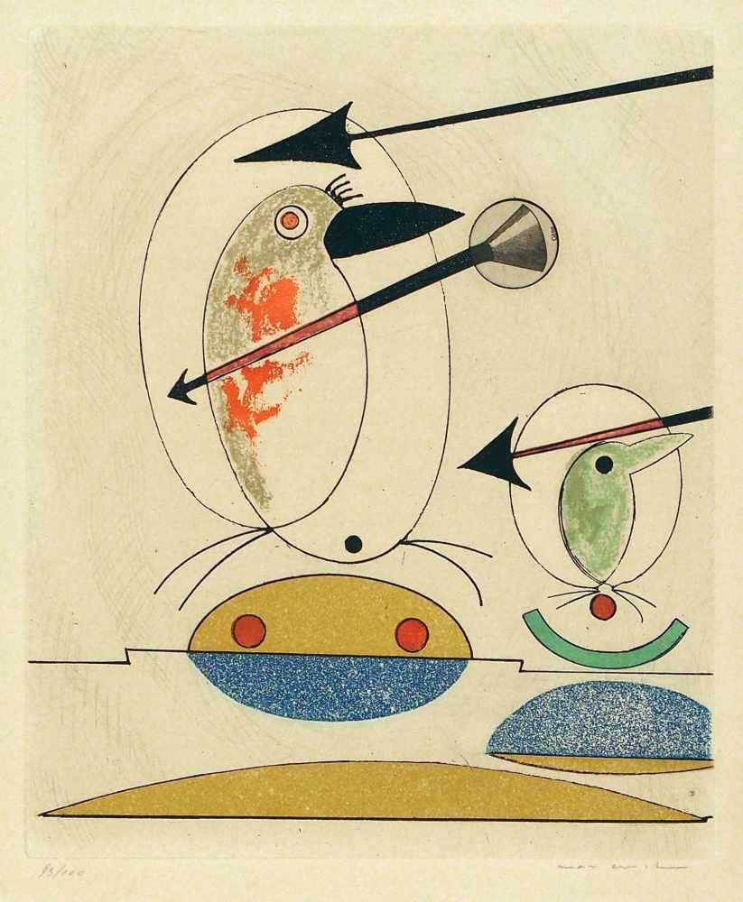 Lot 59 - Max ErnstBrühl 1891 - 1976 ParisSi le Chant et la Parade ne suffisent pas. Farb. Radierung mit