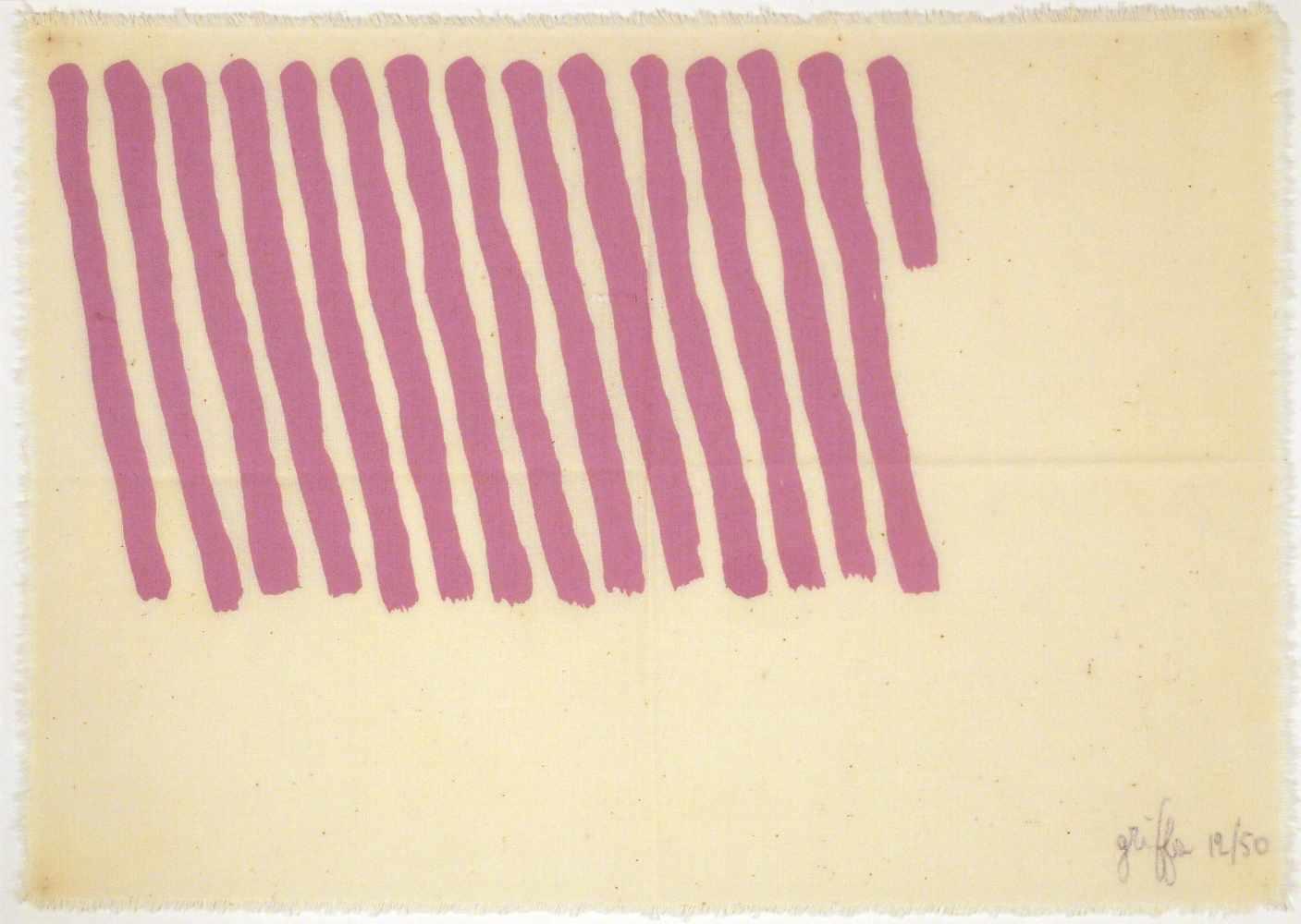 Lot 84 - Giorgio GriffaTurin 1936 - lebt in TurinOhne Titel. Aquarell. 1980. 12,2 x 16 cm. Signiert und