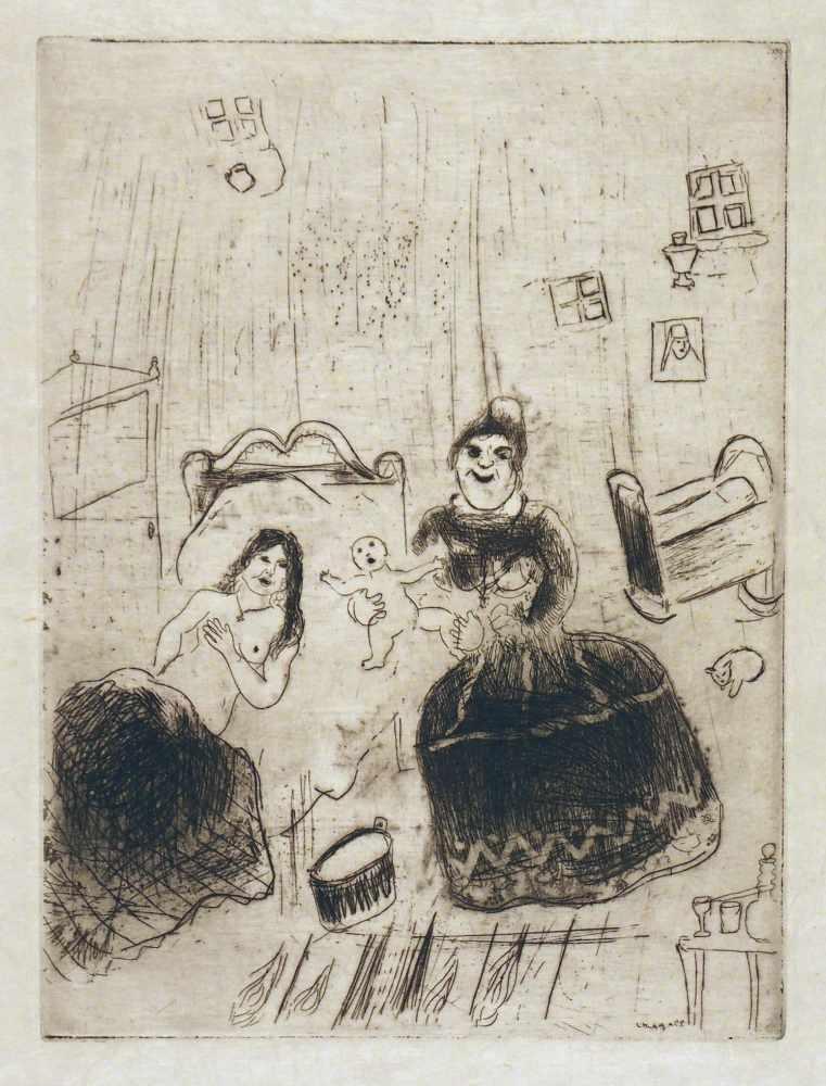 Lot 42 - Marc ChagallWitebsk 1887 - 1985 Saint-Paul-de-VenceOhne Titel. Radierung. 1923-1927/1948. 27,9 x