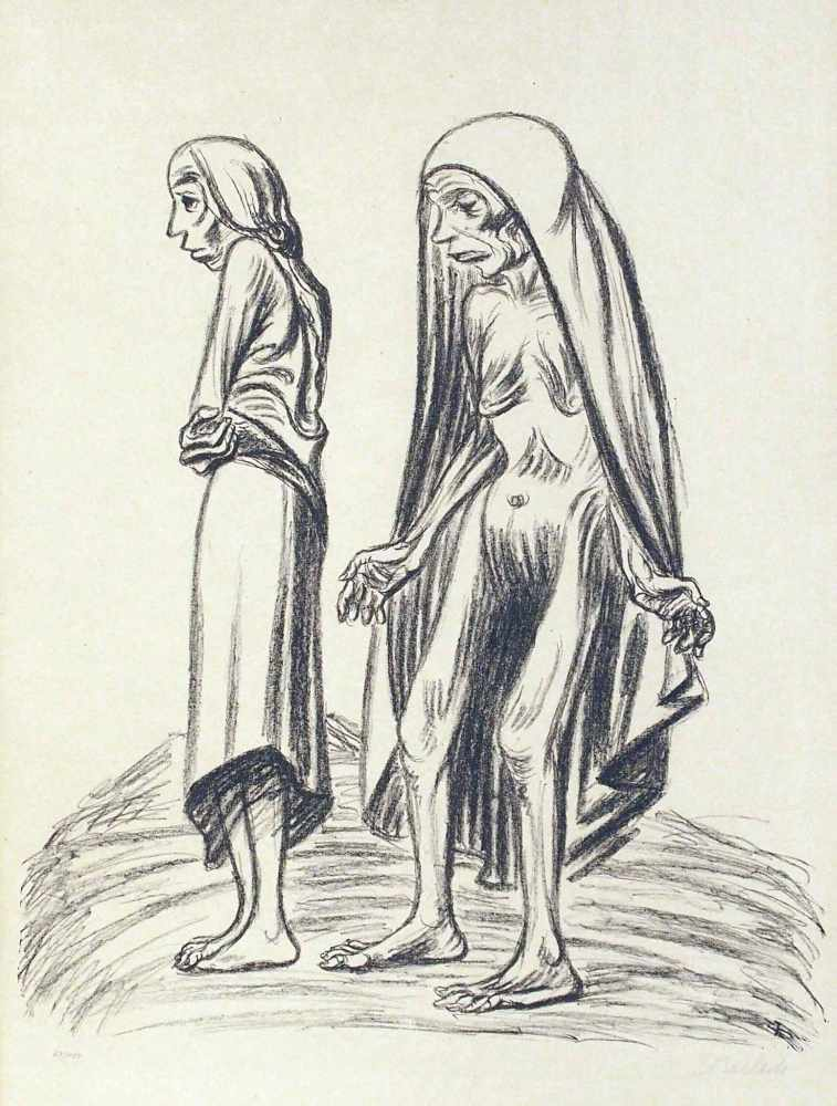 Lot 10 - Ernst BarlachWedel 1870 - 1938 RostockElend. Lithographie. 1922. 49,5 x 42,5 cm (84 x 59,5 cm).