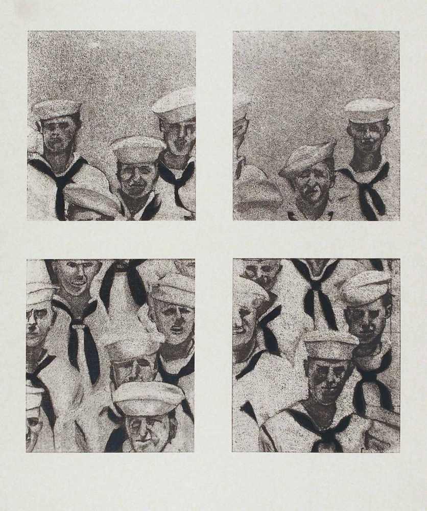 Lot 6 - Richard ArtschwagerWashington 1923 - 2013 Albany/NYSailors. Siebdruck über farb. Lithographie. 1972.