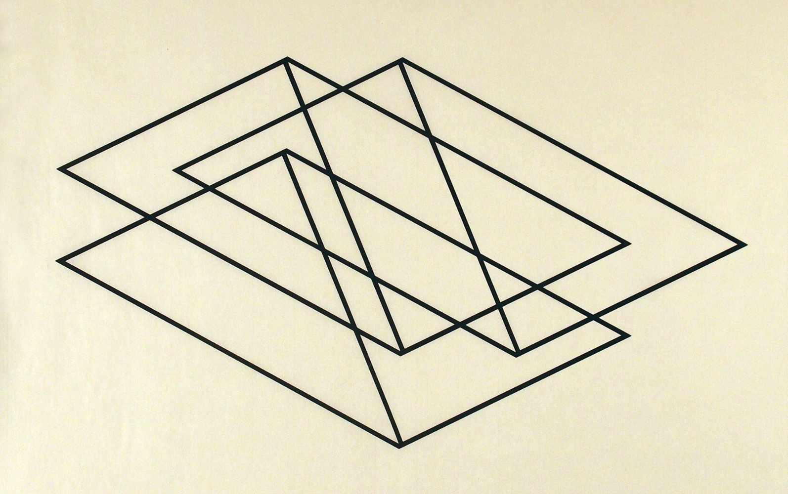 Lot 118 - Verena LoewensbergZürich 1912 - 1988 ZürichOhne Titel. Siebdruck. 1982. 34 x 60 cm (56 x 77,5 cm).