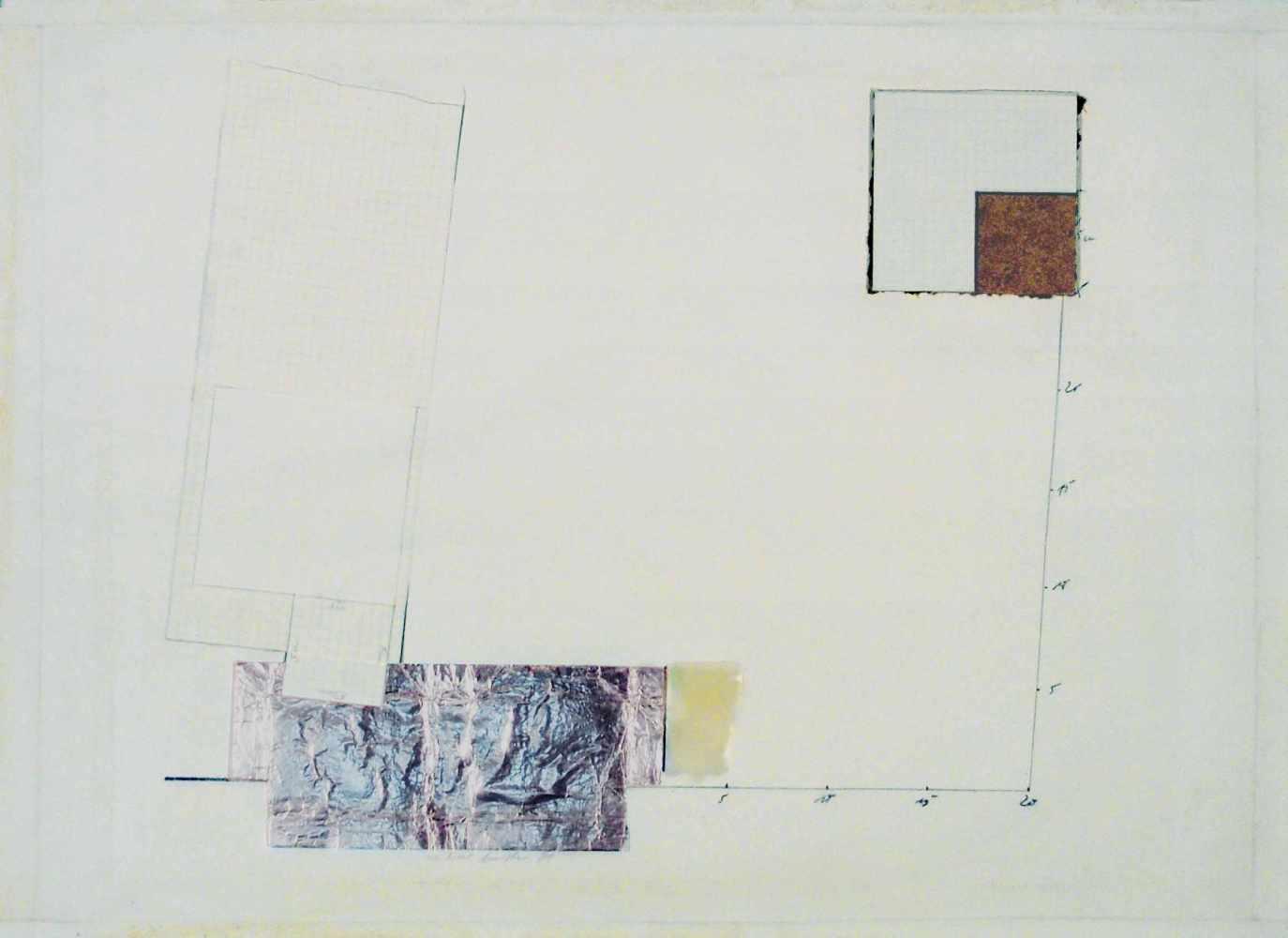 Lot 39 - Michael ButheSonthofen 1944 - 1994 KölnOhne Titel. Bleistift und Collage. 1969. 46,8 x 64,5 cm.
