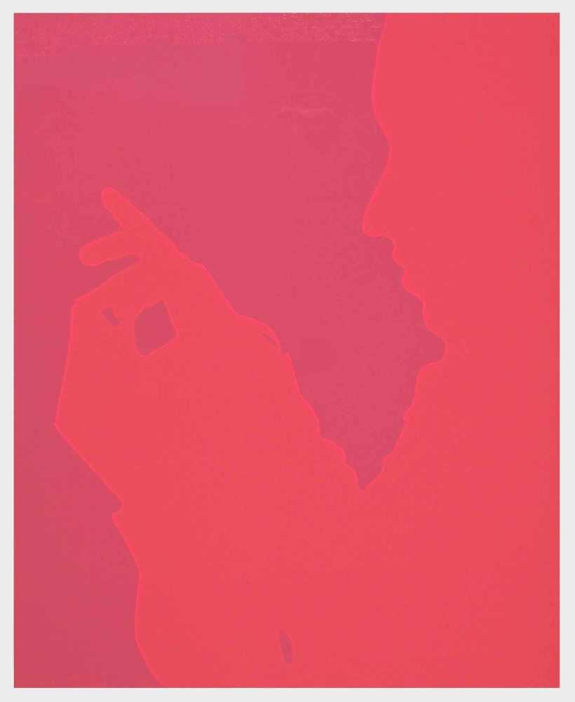 Lot 41 - Lourdes CastroFunchal 1930 - lebt auf MadeiraOhne Titel. Siebdruck hinter PVC. 1969. 54,5 x 44,5 cm.