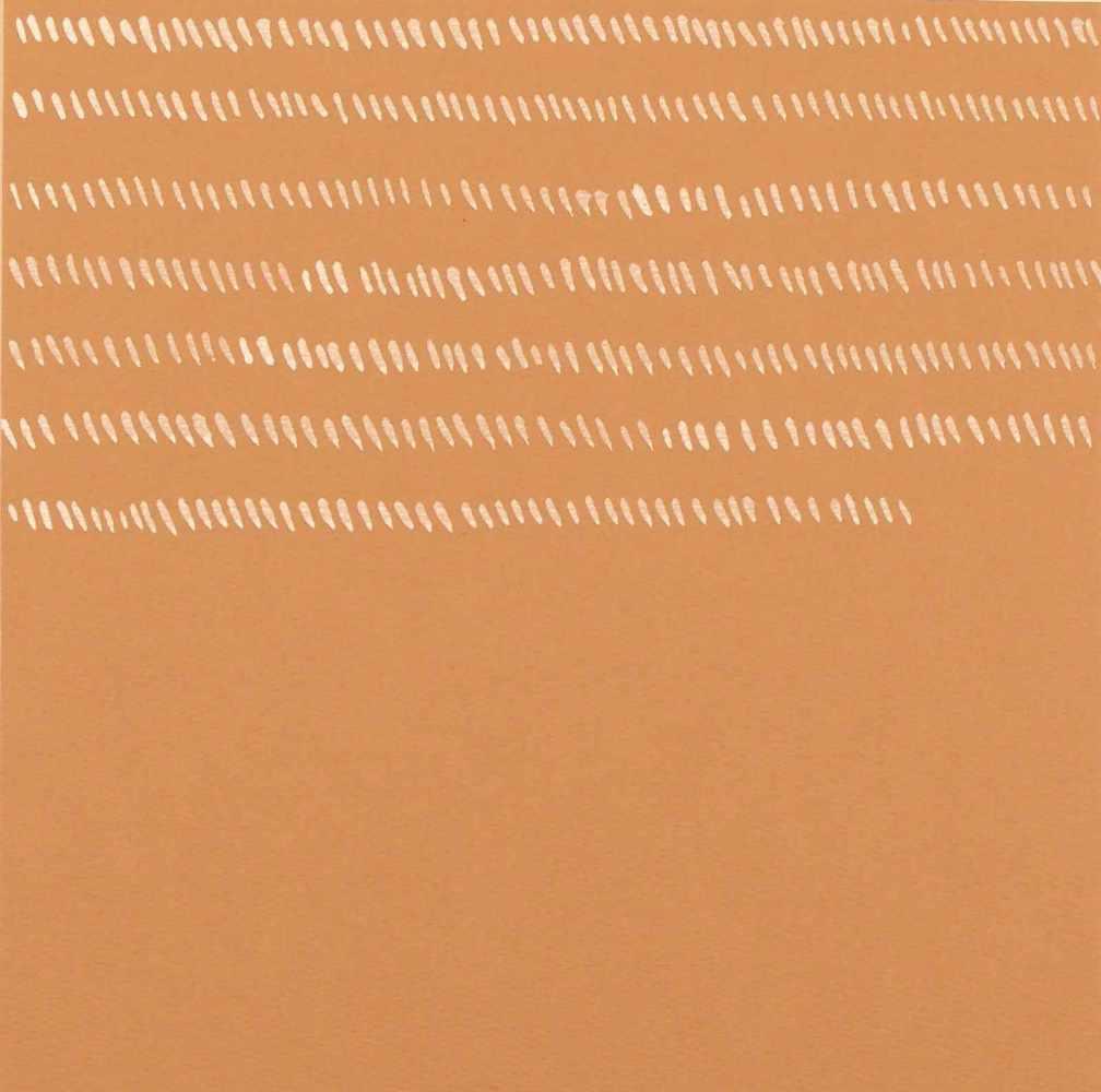 Lot 83 - Giorgio GriffaTurin 1936 - lebt in TurinOhne Titel. Acryl auf Karton. 1975. 24 x 23,8 cm. Rückseitig