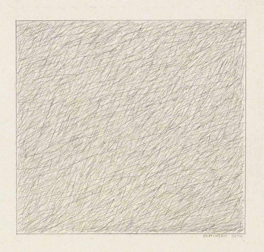 Lot 101 - Thomas KaminskyDresden 1945 - lebt in Köln und WienOhne Titel. Bleistiftzeichnung. 1977. 13 x 14