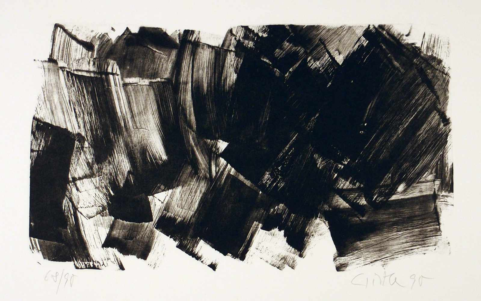 Lot 78 - Raimund GirkeHeinzendorf 1930 - 2002 KölnOhne Titel. Lithographie. 1990. 22,5 x 38,2 cm (45 x 57